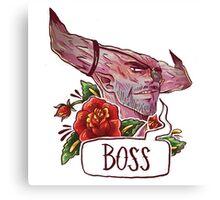 BOSS BULL Canvas Print