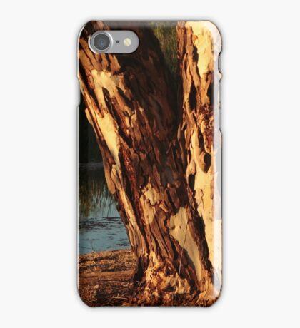 Glowing tree trunk iPhone Case/Skin
