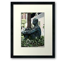 literary man Framed Print