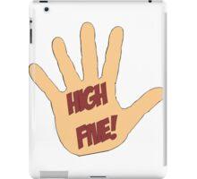 High Five! in comic style iPad Case/Skin