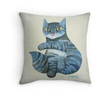 Interrupted While Bathing Throw Pillow