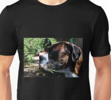 If I Hide Here... Perhaps She Won't See Me... -Boxer Dogs Series- Unisex T-Shirt