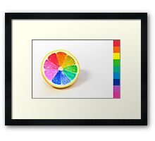 Pantone Colour Wheel Framed Print