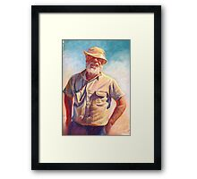 'Hot Day at Tarcombe'  Framed Print