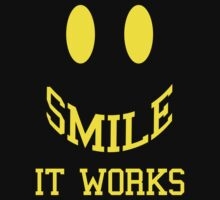 Smile It Works Funny Quote One Piece - Long Sleeve