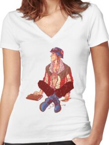 Punk!Cap Women's Fitted V-Neck T-Shirt