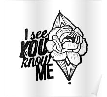 I see you//you know me Poster