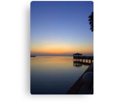 Pre-Sunrise on Space Coast, FL (w) Canvas Print