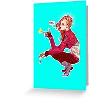 Punk!Black Widow Greeting Card
