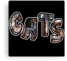 Cats Font Collage  Canvas Print