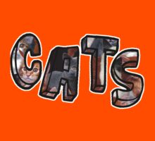 Cats Font Collage  Kids Clothes