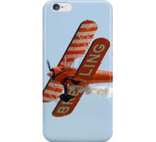 Biplane at an airshow iPhone Case/Skin