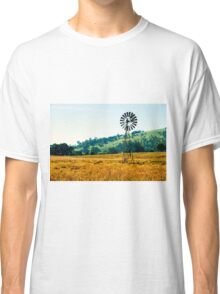 Outback windmill in Queensland, Australia Classic T-Shirt