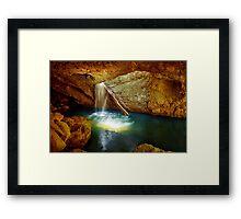 Beautiful Waterfall Framed Print
