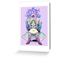 Ample Adventurer - Dwarf Wizard (Fairy Kei) Greeting Card