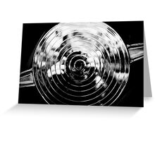 Chrome Spiral Photographer Greeting Card