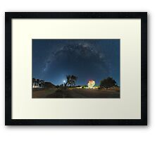 Milky Way Arch Above The Dish Framed Print