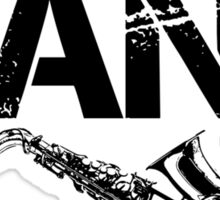 I'm With The Band - Saxophone (Black Lettering) Sticker