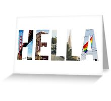 Hella Greeting Card