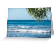 Beach in the afternoon. Greeting Card