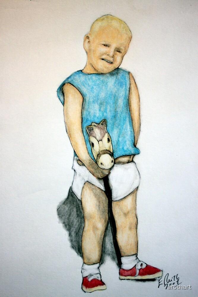 Study for Boy On A Stickhorse by eruthart