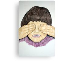 Study of Kayla-See No Evil Canvas Print