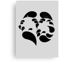 Bipolar Disorder - Many faces (moods) Canvas Print