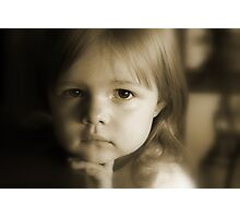 Little Girl Feeling Sad Photographic Print