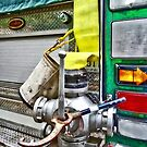 Fire Bucket and Yellow Fire Hose by Susan Savad