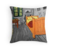 Vincent van Gogh - Sunflowers in the Bedroom at Arles Throw Pillow