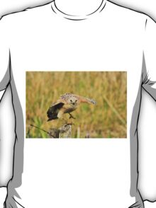 Red Shoulder Hawk Taking Flight T-Shirt