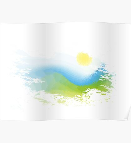 Abstract nature landscape Poster