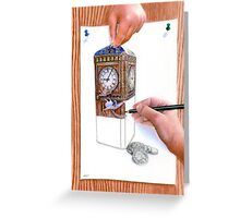 Art or Real - The Money Box Greeting Card