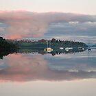 Sun setting-Batman Bridge Tasmania by nealbrey