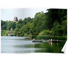 Summer boating - Blenheim palace Poster