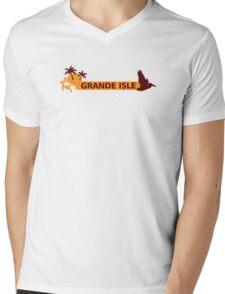 Grande Isle - Louisiana.  Mens V-Neck T-Shirt