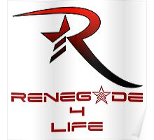 Mass Effect Renegade For Life Poster