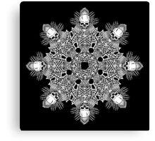 Bone Mandala Canvas Print