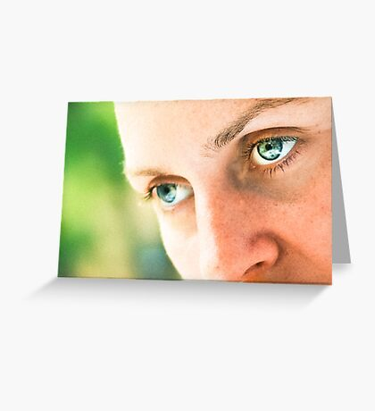 big eyes as an accent Greeting Card