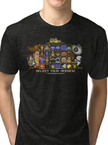 Pixel Animation Fighter Tri-blend T-Shirt