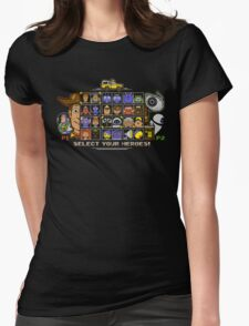 Pixel Animation Fighter Womens Fitted T-Shirt