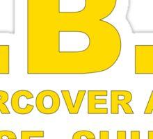 FBI Undercover Agent Sticker