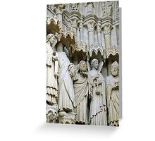 Statues, exterior, Amiens cathedral, France Greeting Card