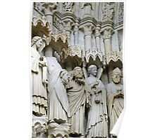 Statues, exterior, Amiens cathedral, France Poster