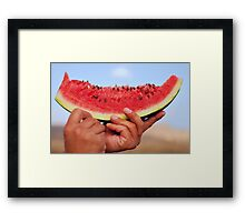 piece of watermelon Framed Print