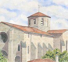 Bussière-Badil Church, France by ian osborne