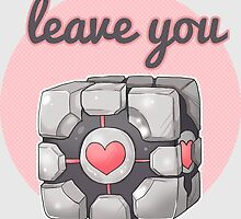 Portal - Companion Cube I Will never leave you by linkitty
