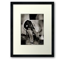 my mind is elsewhere Framed Print
