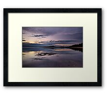 Away from the light Framed Print