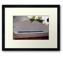 Tile Bench Framed Print